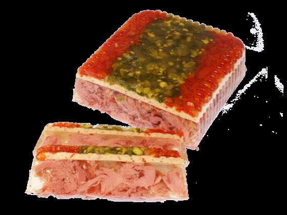 Gourmetfilet in Aspik mit Frischkäsehaube