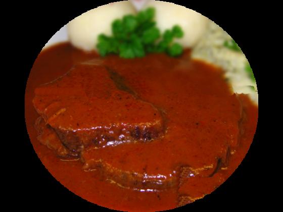 Kassler Braten in Sauce