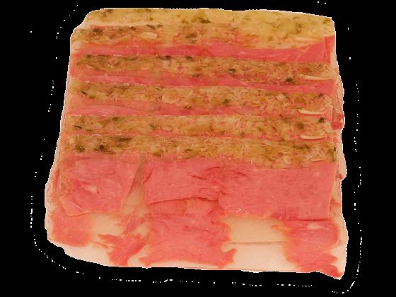 Truthahnkeulen-Sauerfleisch in Aspik mit Lauch