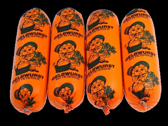 Gelbwurst mit Petersilie Portionswürstchen