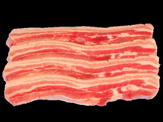 Schweinebauch in Scheiben