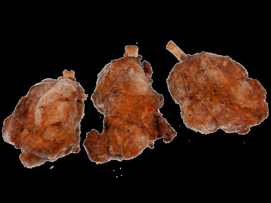 Schweinehaxe gebraten, kleine Haxe am Speichenknochen vollfleischig