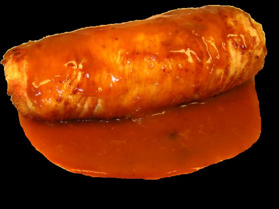 Putenroulade in Sauce
