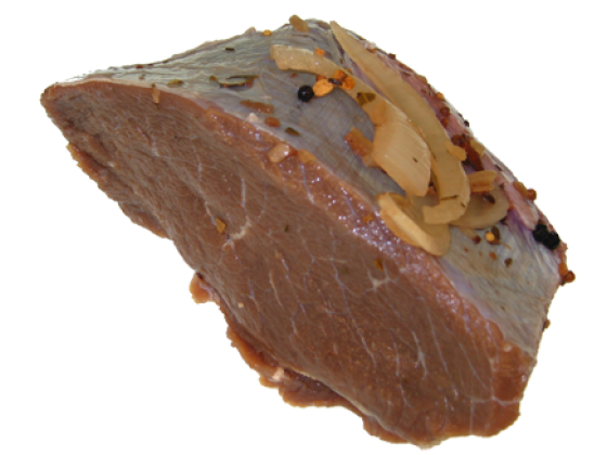 Sauerbraten vom Simmentaler Rind , bratfertig eingelegt