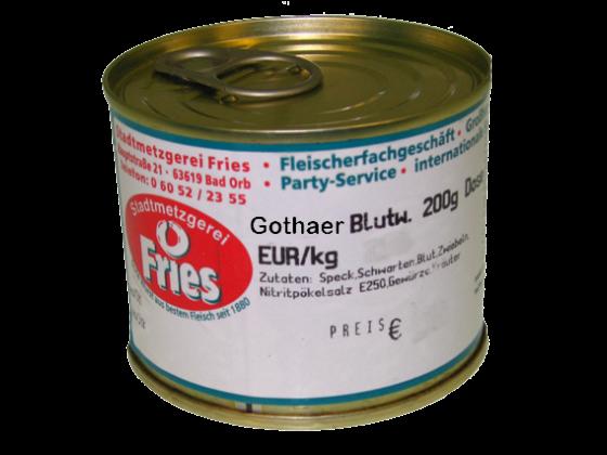 Blutwurst, Fleischrotwurst mit Gothaer original Gewürz a 200 g