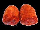 Spiessbraten, gefüllt mit Zwiebeln und Schinken