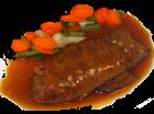 Rinderroulade in Sauce