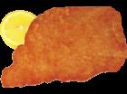 Schweineschnitzel gebraten, 1 Portion