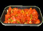 Zigeunergulasch, Schweinegulasch gewürzt mit Paprika