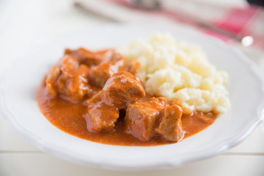 Kalbsgulasch vom deutschen Gourmetkalb, extra mager - Serviervorschlag