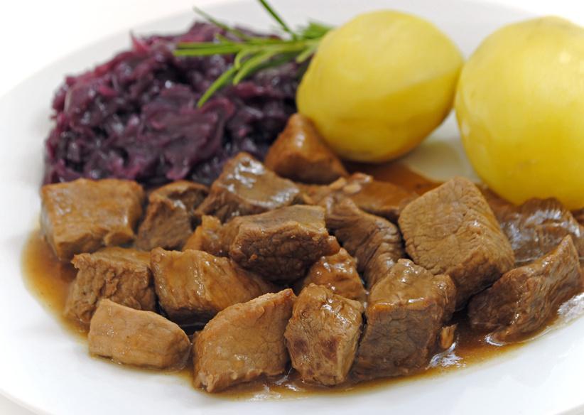 Gulasch gemischt, Rind & Schwein, extra mager - Serviervorschlag